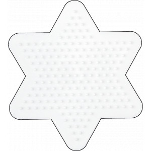 Hama Midi Perleplade Stjerne Lille Hvid 10x9cm - 1 stk