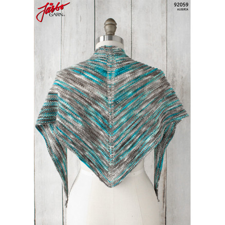Image of   Alegria Shadow Shawl - Sjal Strikkeopskrift 135x45cm