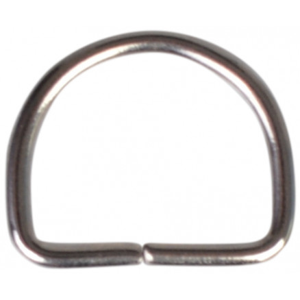 Image of   D-Ring Nikkel 20mm - 1 stk
