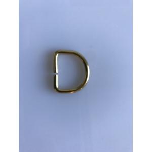 D-Ring Messing 20mm - 1 stk