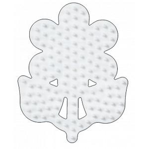 Hama Midi Perleplade Blomst Lille Hvid 8x6,5cm - 1 stk