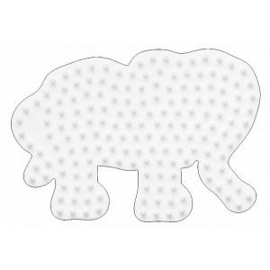 Hama Midi Perleplade Elefant Lille Hvid 9x6,5cm - 1 stk