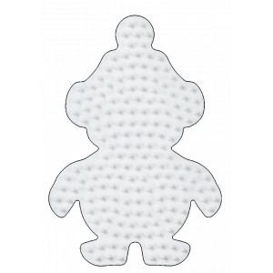 Hama Midi Perleplade Pingvin Lille Hvid 10,5x7,5cm - 1 stk