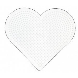 Hama Midi Perleplade Hjerte Stor Hvid 17,5x15,5cm - 1 stk