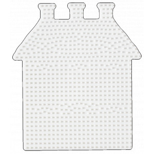 Hama Midi Perleplade Hus Hvid 17x15cm - 1 stk