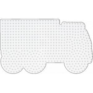 Hama Midi Perleplade Lastbil Hvid 17,5x10cm -  1 stk