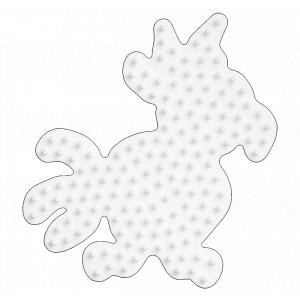 Hama Midi Perleplade Papegøje Hvid 9,5x8,5cm - 1 stk
