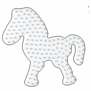 Hama Midi Perleplade Pony Hvid 9,5x8,5cm - 1 stk