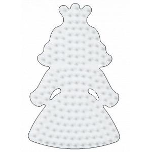 Hama Midi Perleplade Prinsesse Lille Hvid 10x6,5cm - 1 stk
