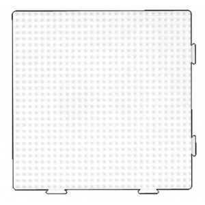 Hama Midi Perleplade Samleplade Firkant Hvid 14,5x14,5cm - 1 stk