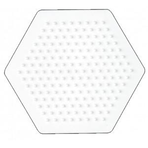 Hama Midi Perleplade Sekskant Lille Hvid 9x8cm - 1 stk