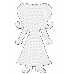 Hama Midi Perleplade Teenage Pige Hvid 22,5x12,5cm - 1 stk