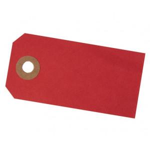 Paper Line Manillamærker Rød 4x8cm - 10 stk