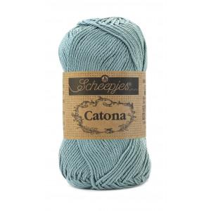 Scheepjes Catona Garn Unicolor 528 Silver Blue