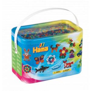 Hama Midi Perler 202-53 Transparent Mix 53 - 10.000 stk