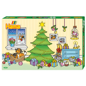 Hama Midi Gaveæske 3037 Julekalender med 24 låger