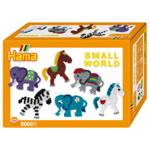 Hama Midi Gaveæske 3504 Small World Pony og Elefant