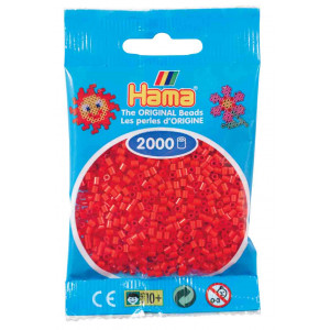 Image of   Hama Mini Perler 501-05 Rød - 2000 stk