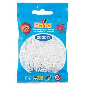 Image of   Hama Mini Perler 501-01 Hvid - 2000 stk