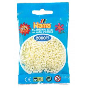 Image of   Hama Mini Perler 501-02 Creme - 2000 stk