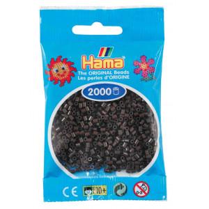 Image of   Hama Mini Perler 501-12 Brun - 2000 stk