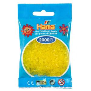 Image of   Hama Mini Perler 501-14 Transparent Gul - 2000 stk