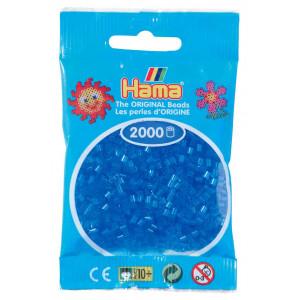 Image of   Hama Mini Perler 501-15 Transparent Blå - 2000 stk