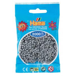 Image of   Hama Mini Perler 501-17 Grå - 2000 stk