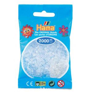 Image of   Hama Mini Perler 501-19 Klar - 2000 stk