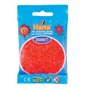 Image of   Hama Mini Perler 501-35 Neon Rød - 2000 stk