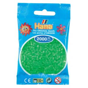 Image of   Hama Mini Perler 501-42 Fluorescerende Grøn - 2000 stk