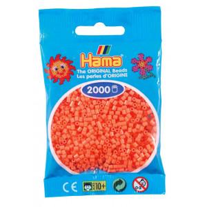 Image of   Hama Mini Perler 501-44 Pastel Rød - 2000 stk