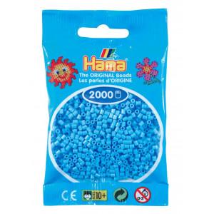 Image of   Hama Mini Perler 501-46 Pastel Blå - 2000 stk