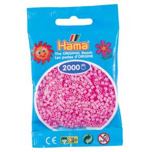Image of   Hama Mini Perler 501-48 Pastel Pink - 2000 stk