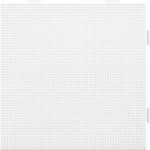 Hama Mini Perleplade 593 Samleplade Firkant Hvid 14x14cm  - 1 stk