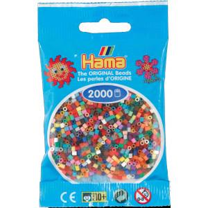 Image of   Hama Mini Perler 501-00 Mix 00 - 2000 stk