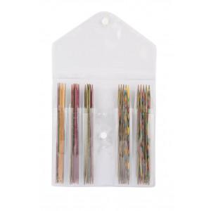 KnitPro Symfonie Strømpepindesæt Birk 15cm 2-4mm 5 størrelser