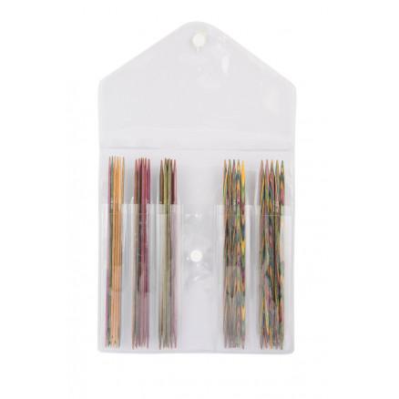 KnitPro Symfonie Strømpepindesæt Birk 15cm 2-4mm 5 størrelser thumbnail