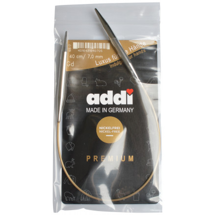 Image of   Addi Turbo Rundpinde Messing 40cm 7,00mm / 15.7in US10¾