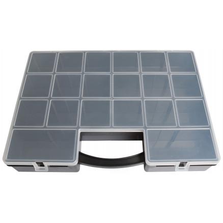 Tidssvarende Plastboks til perler og knapper 8-22 rum 35,5x25,5x5,5cm - Rito.dk HU-56