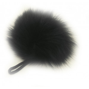 Image of   Pompon Kvast Kaninhår Sort 90 mm
