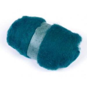 Kartet uld til nålefiltning Grøn 50g