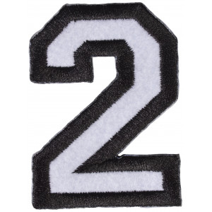 Strygemærke 2-Tal 4,2x5,9cm - 1 stk