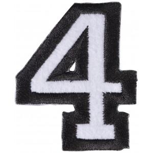 Strygemærke 4-Tal 4,7x5,9cm - 1 stk