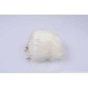 Pompon Kvast Akryl Hvid 80 mm