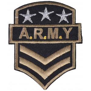 Strygemærke Army A.R.M.Y 7x6cm - 1 stk
