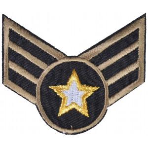 Strygemærke Army Stjerne 5x6,5cm - 1 stk