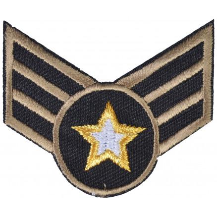 Image of   Strygemærke Army Stjerne 5x6,5cm - 1 stk