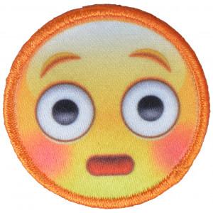 Strygemærke Emoji Smiley Forbavset 3,5x3,5 cm - 1 stk