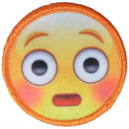 Image of   Strygemærke Emoji Smiley Forbavset 3,5x3,5 cm - 1 stk
